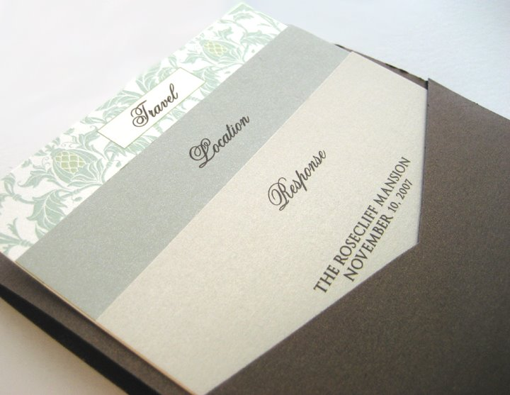 Layered wedding invitation cards for a beautifully organized look
